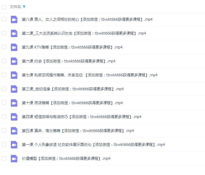 浪迹恋爱4.0课程 百度网盘下载